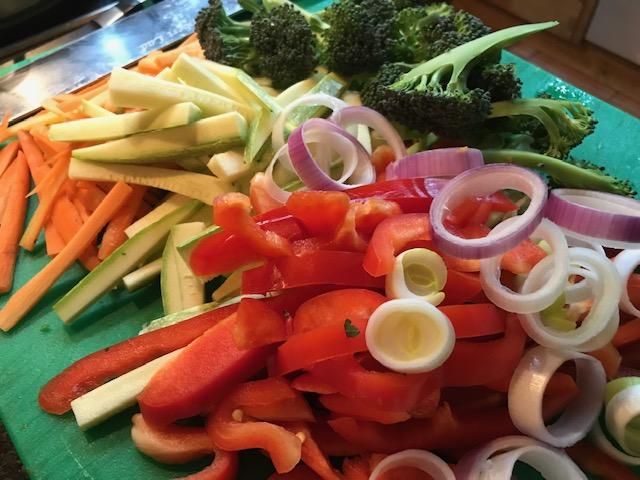 Gesundes Obst und Gemüse von der Finca